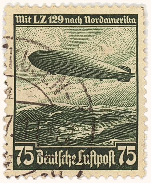 Briefmarke LZ 129 Hindenburg