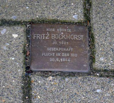 Stolperstein Bockhorst 2005